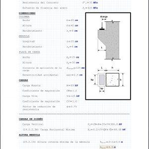 Diseño de Ménsulas de Concreto Reforzado ACI 318-19