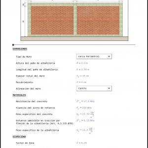 Análisis y Diseño de Muros no Estructurales de Albañilería